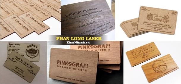 Sản xuất Card Visit bằng gỗ tại Sài Gòn Hà Nội Cần Thơ