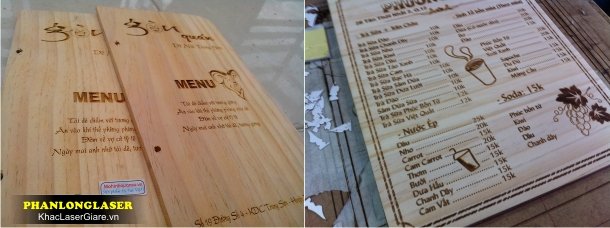 Địa chỉ Làm menu bằng gỗ tại TPHCM