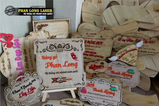 Làm biển gỗ, bảng gỗ tên shop cho khách hàng tại Vinh, Nghệ An, Thanh Hóa, Hà Nam, Nam Định, Hải Phòng, Thái Bình, Hải Dương