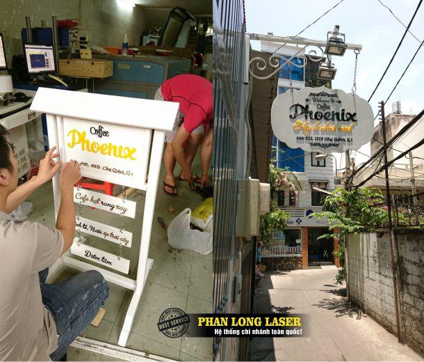 Công ty thiết kế làm biển quảng cáo bằng gỗ kích thước nhỏ cho các shop tại địa bàn Tphcm Hà Nội, Đà Nẵng, Cần Thơ và toàn quốc