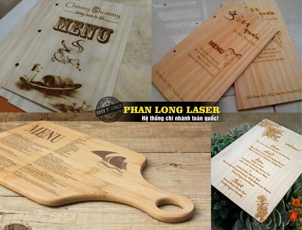 Và làm menu gỗ cao cấp cho khách hàng ở Ngũ Hành Sơn, Hòa Vang, Sơn Trà ĐN Đà Nẵng
