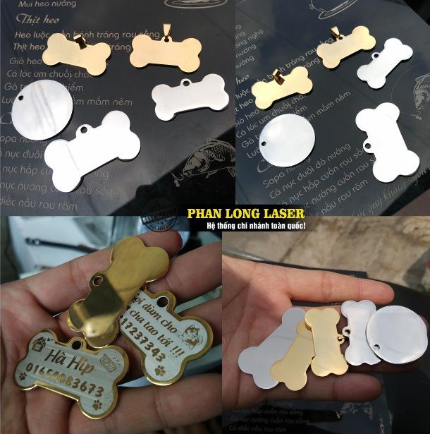 Địa chỉ nhận gia công làm các loại thẻ tên thú cưng, vòng cổ thú cưng, mặt dây chuyền đeo cổ cho thú cưng giá rẻ