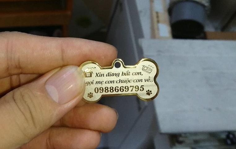 Làm bảng tên đeo cổ cho chó mèo tại Hà Nội, Tp Hồ Chí Minh, Đà Nẵng và Cần Thơ