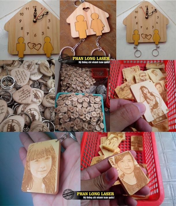 Sản phẩm móc khóa gỗ khắc hình tại Cần Thơ