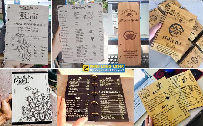 Hệ thống nhà xưởng sản xuất menu gỗ, menu mica trên toàn quốc