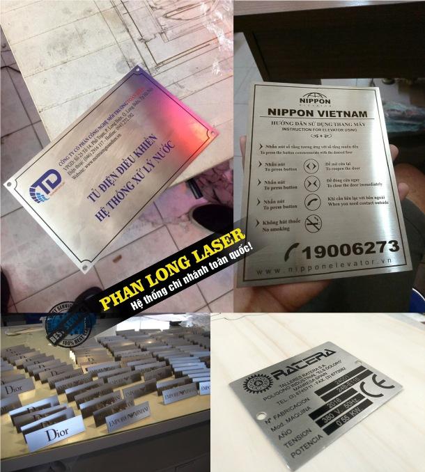 Địa chỉ nhận làm tem nhãn mác bằng kim loại inox, tem nhãn mác bằng da, tem nhãn mác bằng nhựa theo yêu cầu giá rẻ