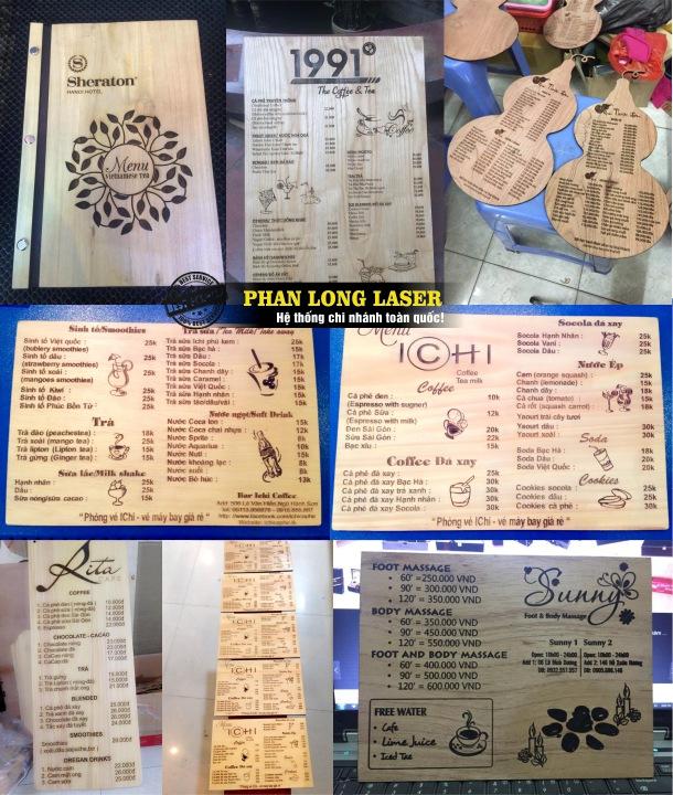 Làm menu gỗ tại Tp Hồ Chí Minh, Sài Gòn, Đà Nẵng, Hà Nội và Cần Thơ