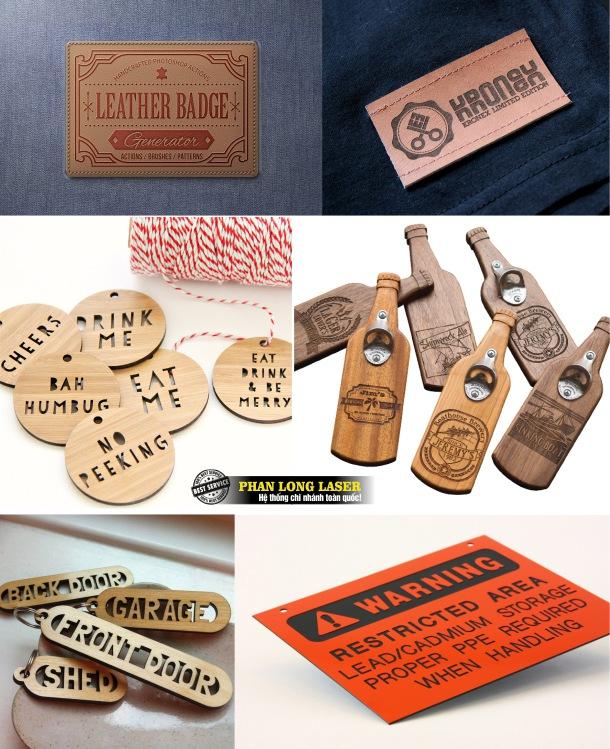 Địa điểm sản xuất tem nhãn mác bằng kim loại, gỗ da nhựa giá rẻ