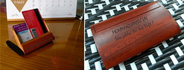 Nhận làm hộp name card bằng gỗ tại Sài Gòn
