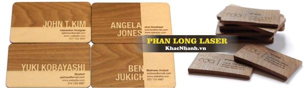 Địa chỉ Thiết kế làm Name Card bằng gỗ tại TPHCM Sài Gòn Cần Thơ