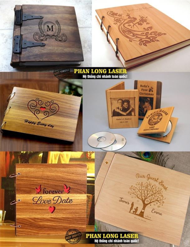 Sử dụng máy cắt và khắc laser để thiết kế và tạo hình bìa gỗ, album gỗ cực đẹp