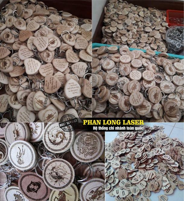 Địa chỉ chuyên nhận gia công sản xuất móc khóa gỗ giá rẻ khắc laser theo yêu cầu tại Tp Hồ Chí Minh và Sài Gòn
