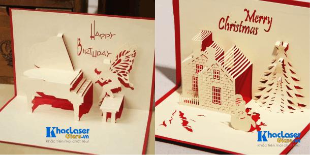 Cắt thiệp 3D bằng laser giá rẻ tại Sài Gòn