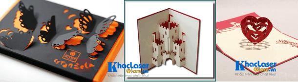 Một số sản phẩm hoàn thiện cắt thiệp giấy 3D cho khách hàng ở Cần Thơ
