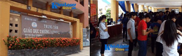 Trung tâm giáo dục thường xuyên quận Tân Phú TpHCM Sài Gòn thuê máy khắc