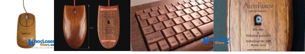 Dịch vụ khắc chuột gỗ và khắc bàn phím gỗ giá siêu rẻ