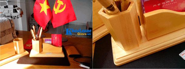 Làm hộp đựng bút bằng gỗ để bàn tại Hà Nội
