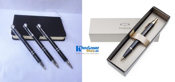 Rất nhiều công ty ưu thích tặng quà bằng bút viết kim loại có khắc logo công ty mình lên bút viết