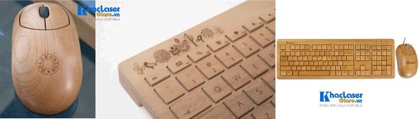 Dịch vụ nhận khắc chuột gỗ và bàn phím gỗ tại TphCM