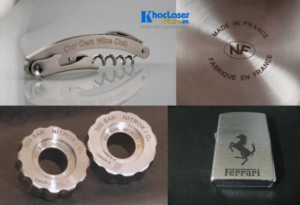 Khắc kim loại bằng công nghệ khắc laser
