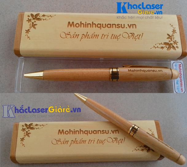 Khắc laser bút gỗ viết gỗ tại Gò Vấp TpHCM