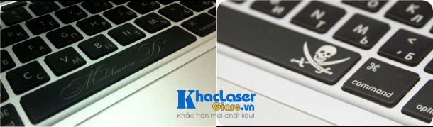Khắc laser trên bàn phím laptop cấu tạo hoàn toàn bằng nhựa cứng