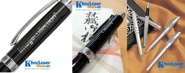 Khắc laser lên bút viết máy tại Sài Gòn