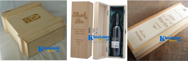 Khắc laser giá rẻ lên hộp gỗ hộp rượu tại Gò Vấp Sài Gòn