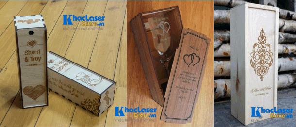 Khắc laser trên hộp gỗ hộp rượu tại Quận Tân Bình, Quận 12, Quận 1, Quận Bình Thạnh