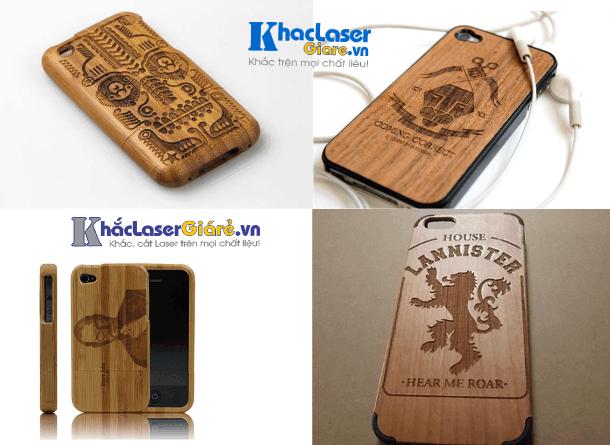 Khắc laser trên các loại vỏ điện thoại bằng gỗ rất đẹp tại TpHCM