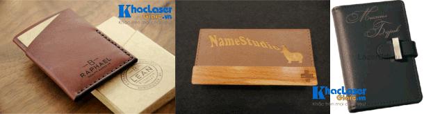 Nhận khắc bóp da ví da cho khách hàng tại Hà Nội