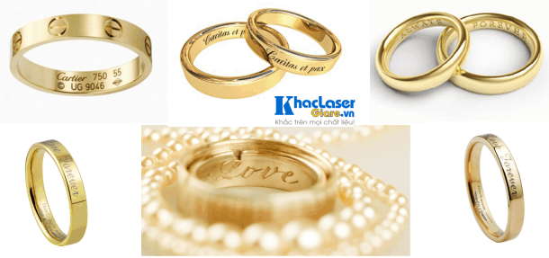 Khắc gì lên nhẫn vàng để tặng ý nghĩa nhất?