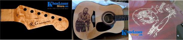 Những cây đàn Guitar đã khắc xong cho khách tại Cần Thơ và Hà Nội