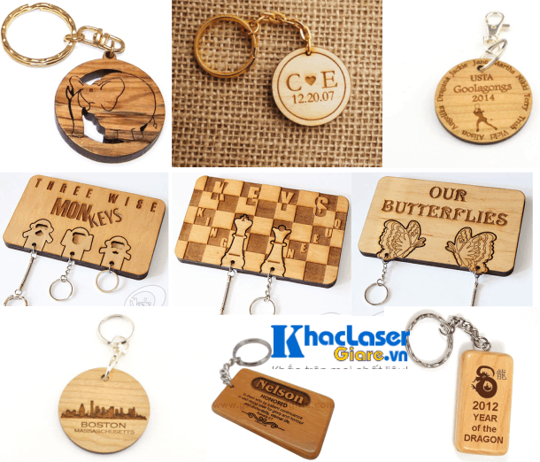 Nhận làm móc khóa gỗ giá rẻ lấy liền tại TpHCM