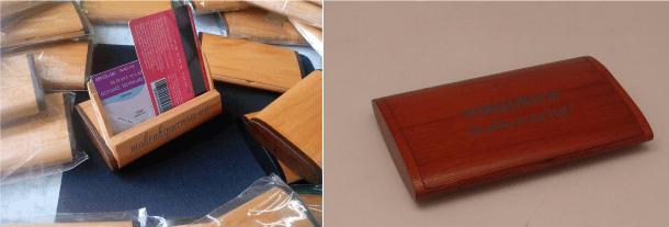 Làm hộp đựng name card bằng gỗ cho khách hàng tại Cần Thơ